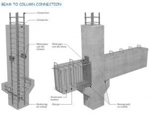 Prefab Column to Beam Connection
