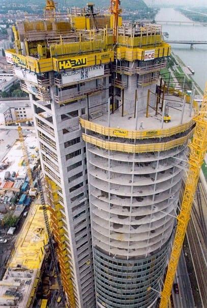 Composite House Construction : Millennium tower vienna austria composite