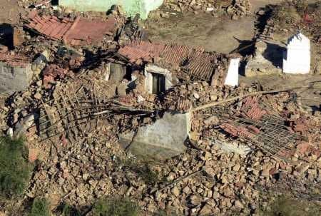 Bhuj Earthquake India - Aerial View