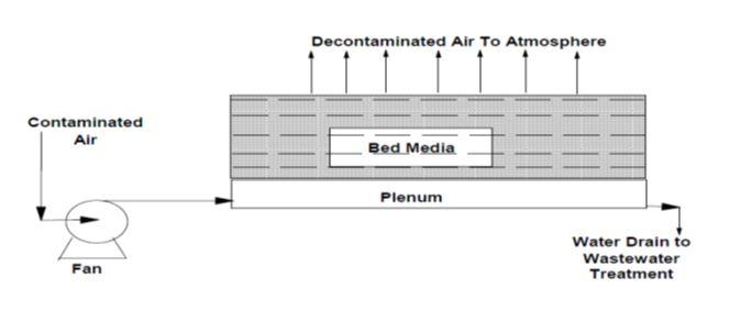 Mass flow diagram of a bio-reactor