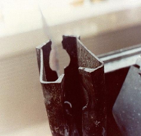 Photo of Deformed 4th floor beam