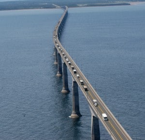 The Confederation Bridge , Canada