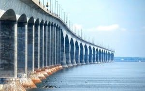 Sections of Confederation Bridge , Canada