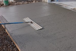 bleeding in concrete slab