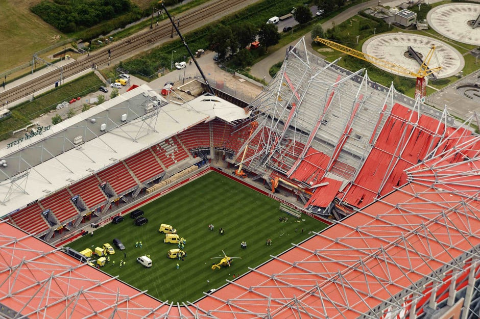 Collapse of Enschede Stadium Roof ( 2011) - Roof structure's insufficient stability