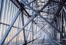 Steel truss inside Solar Ark