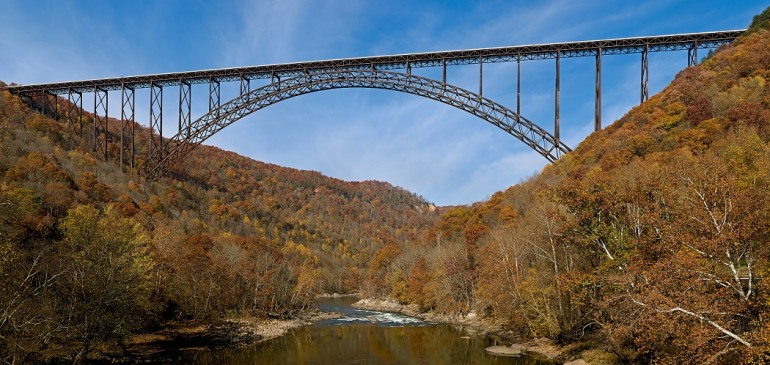 Elevation of New River Gorge Bridge