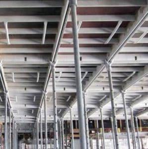 Aluminum Shuttering in Roof slab Casting