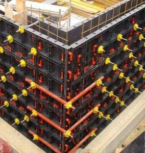 Plastic Formwork Concrete Wall