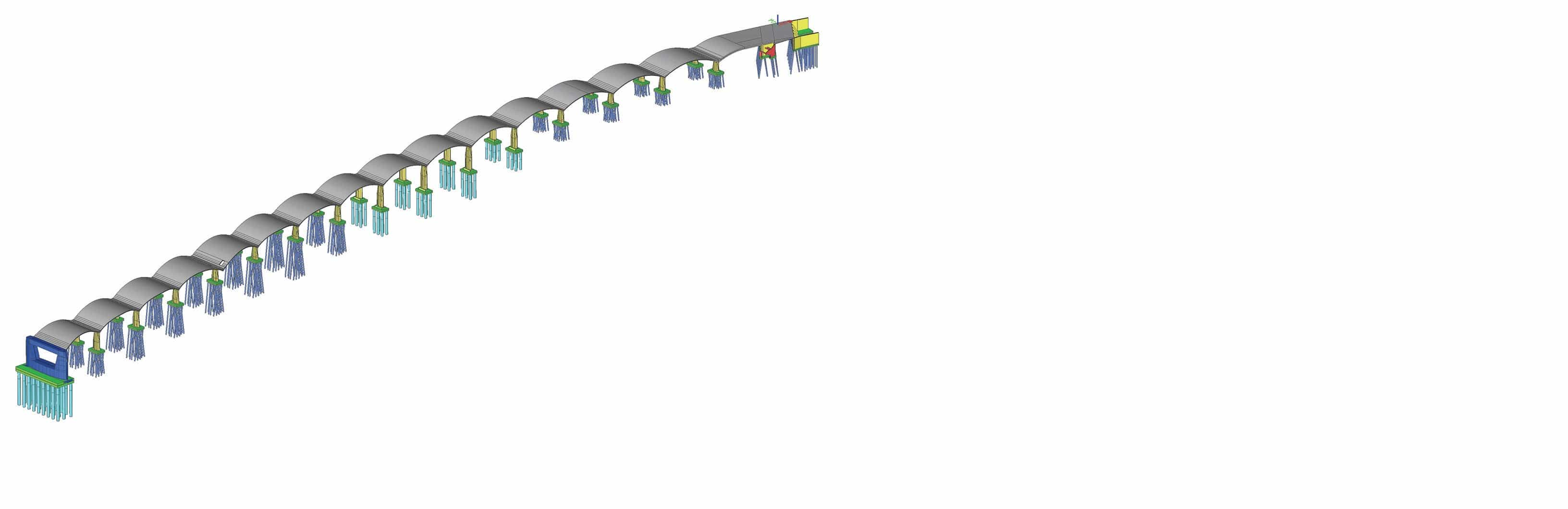 Concrete Arches Modelled in Software