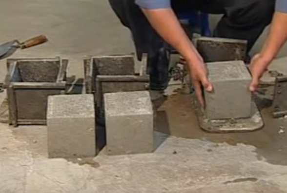 Casting Concrete Cubes