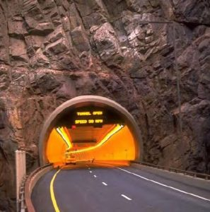 A Typical Horseshoe Section for a Two-lane Tunnel