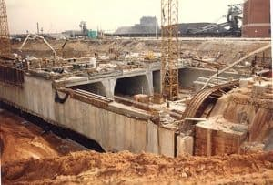 Cut and Cover Construction using Side Slopes Excavation- Ft McHenry Tunnel