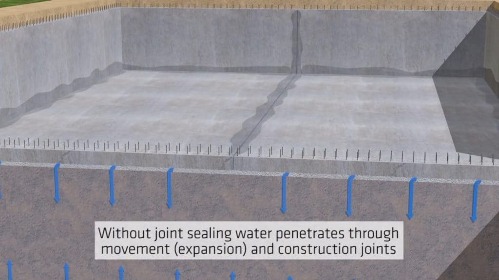 Construction joint Sealing