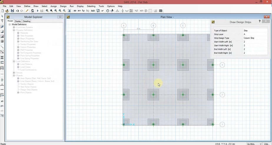 Flat Slab Design on Software