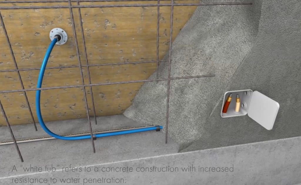 Waterproofing construction joints using gel injection
