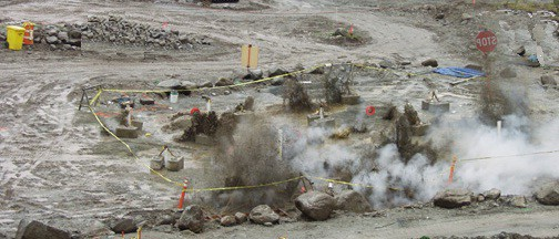 Blasting explosives for densification of foundation soil