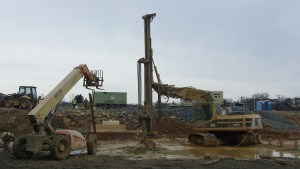 Micro pile drilling