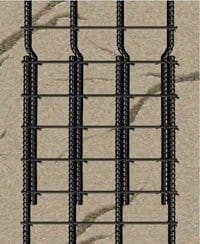 steel bars overlapped