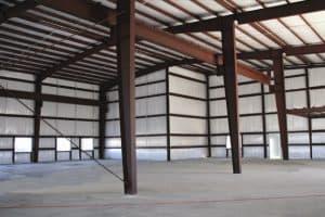 steel column in an industry