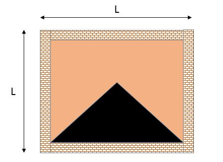 Triangular load distribution in two way slabs