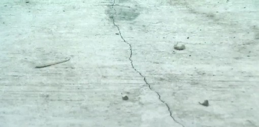 Crack in concrete slab