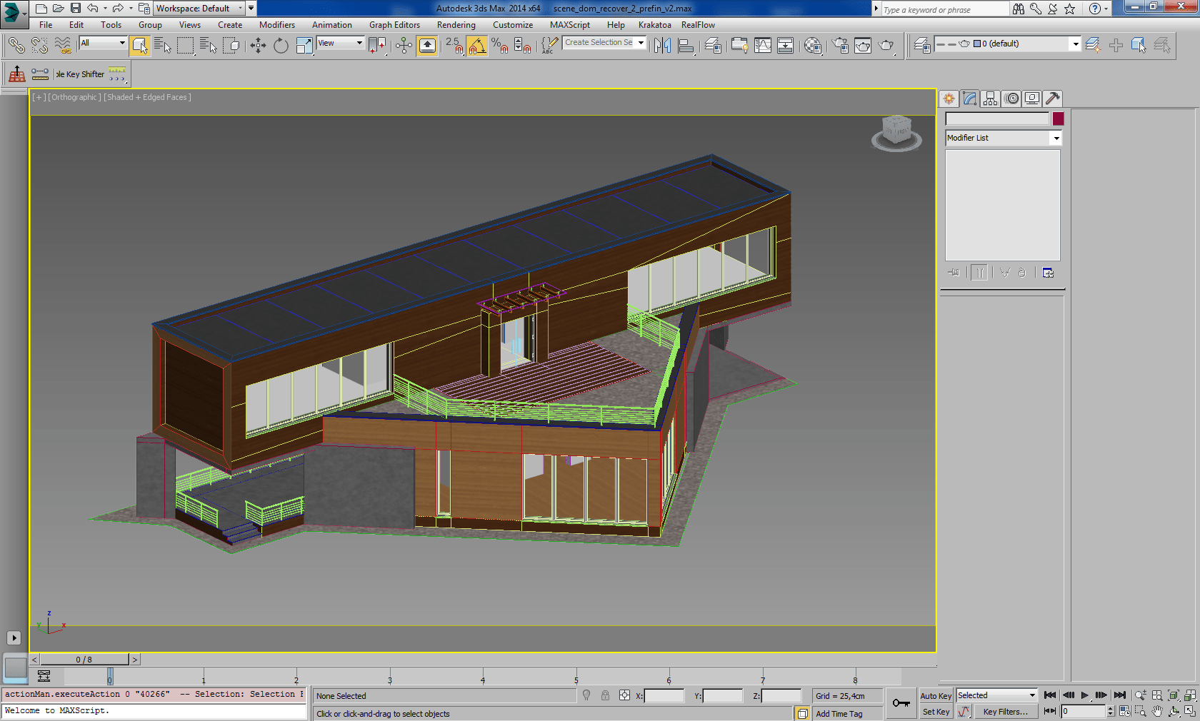 Drawing done in 3DS MAX Civil engineering software
