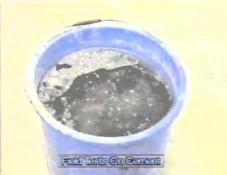 Float test on cement