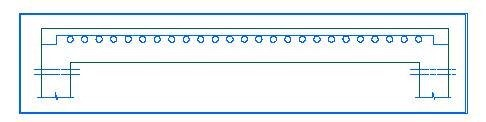 Holes in the span of a beam