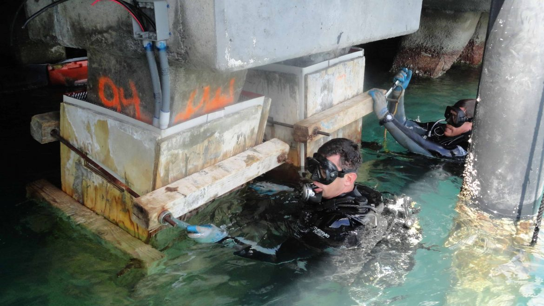 Repair of underwater structures
