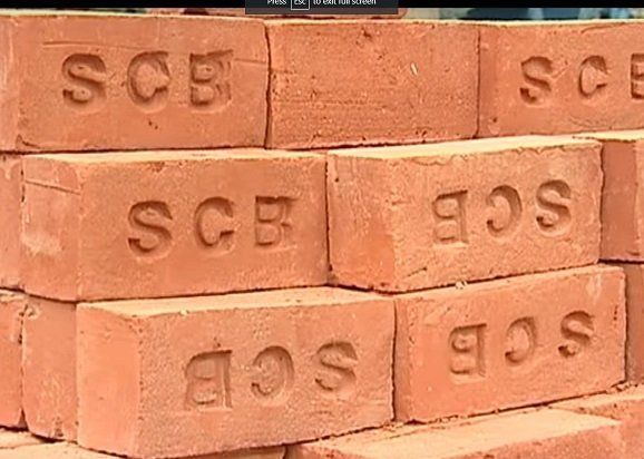 Uniform Copper coloured clay Bricks