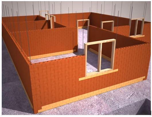 Construction using Interlocking bricks (Source: YouTube/amri zam)