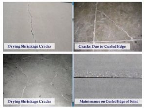 Different types of cracks (Source YouTube American Concrete Institute)