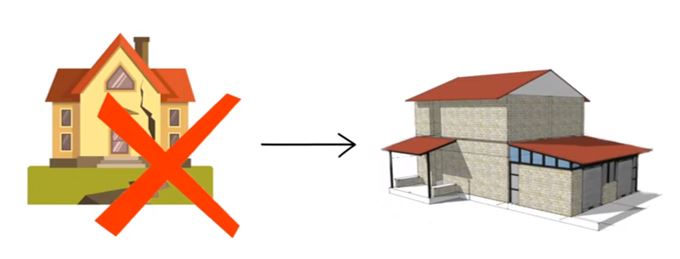 Earthquake resistant building (Source: YouTube/ Build up Nepal)