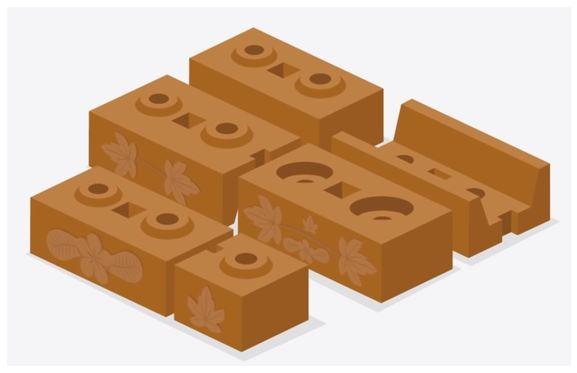 Various designs & Patterns of Interlocking bricks (Source: YouTube/Malaysia Interlocking Bricks (MyIB))