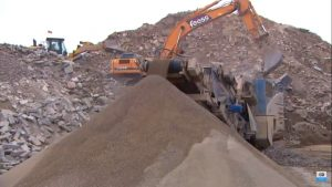 Equipment used to produce Recycled Concrete