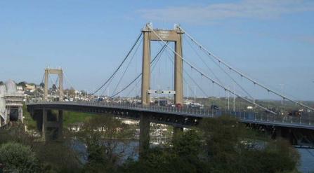 Tamar suspension bridge